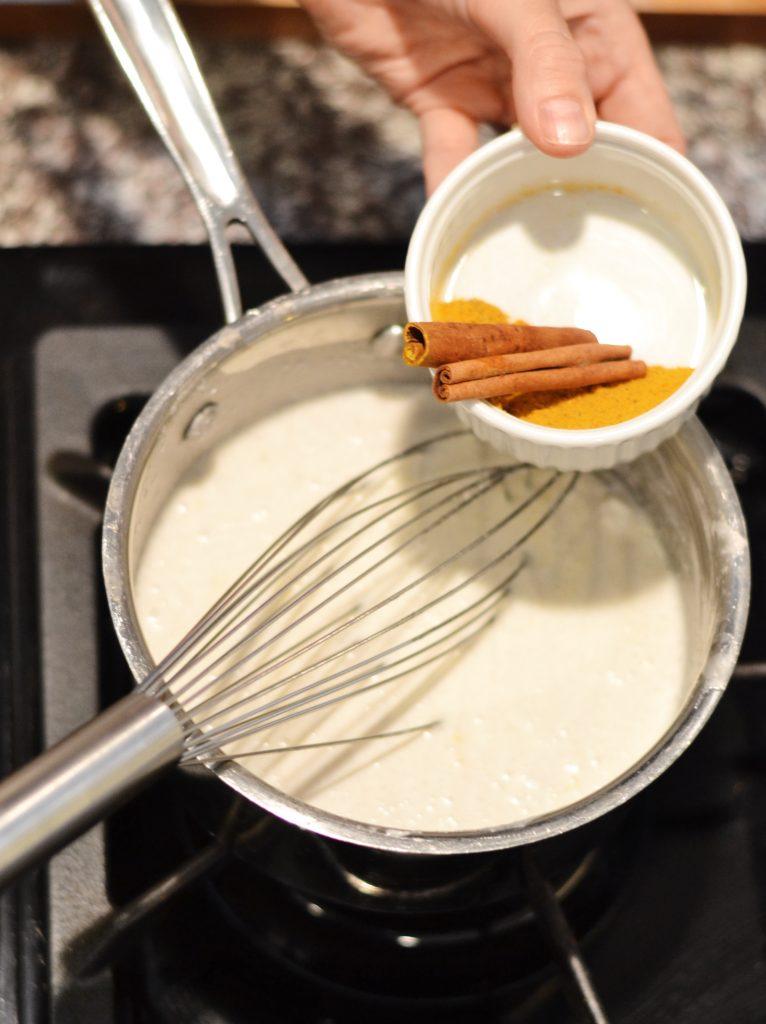 Making golden milk
